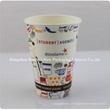 Única parede personalizado isolados Vending Coffee Paper Cup