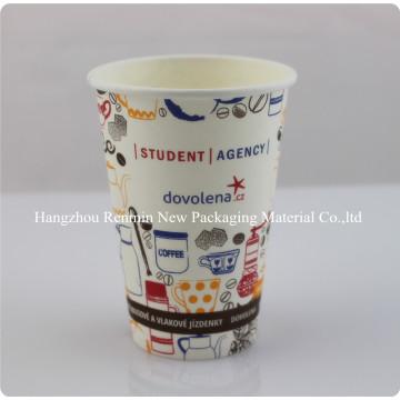 Einweg-Druck Vending Hot Coffee Papier Tasse mit Deckel