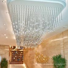 Hotel de lujo que cuelga la luz colgante de la lámpara de la bola de cristal