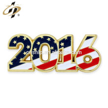 Wholesale 2016 metal gold hard enamel Patriotic Year lapel Pin
