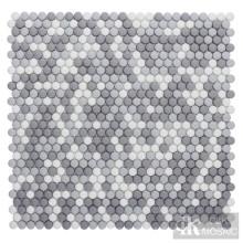 Mosaico de vidrio gris mezcla para pared de ducha