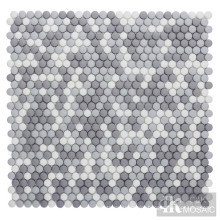 Grey Mix Glass Mosaic for Shower Wall