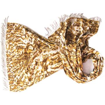 100% Kaschmir doppelseitig bedruckt Schal