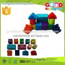 Niños Bloques de construcción de madera educativos Bloque de color juguetes- Juguetes clásicos