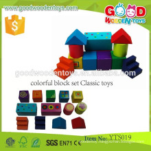 Kids Educational Wooden Building Blocks Colorful Block Toys- Classic Toys