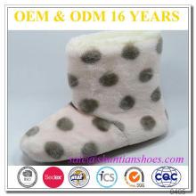 Lovely dots design bottes en hiver en coton en laine polaire avec doublure en peluche confortable