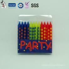 Meilleure vente de bougie mince de décoration de partie de matière première qui respecte l'environnement et personnalisée