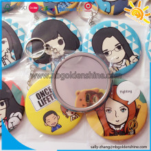 Promotion Tin Mirror With Chain