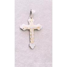 New Design Stainless Steel Men'S Cross Pendant Chain Necklace New Design Stainless Steel Men'S Cross Pendant Chain Necklace