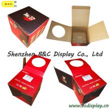 Venda quente de todos os tipos de caixa de cor, caixa de papel, papelão PDQ Displa caixa com janela de círculo (B & C-I022)