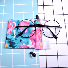 Offest Printing Soft Microfibre Eye Glasses Pouch