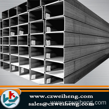 ASTM AISI Black Square Steel Pipe / Tube