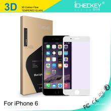 Atacado 0.26mm cobertura total quadro de cor Fibra De Carbono Soft Edge Protetor de Tela para o iPhone 6