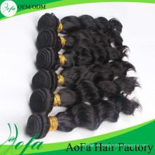 Extensión natural del pelo humano Pelo de la onda del cuerpo Pelo de la Virgen Remy