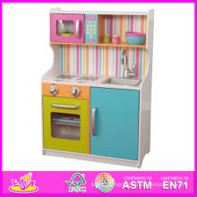 Set de cuisine en bois 2014 pour enfants, jeux de cuisine pour enfants jeu éducatif, vente de jouets de cuisine Hot Set pour bébé W10c078