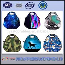 2015 new design cute neoprene animal lunch bag
