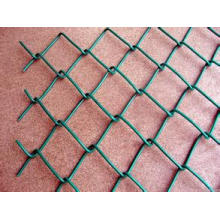 Cerca galvanizada del acoplamiento de cadena (malla de alambre del diamante), cerca revestida del acoplamiento de cadena del PVC