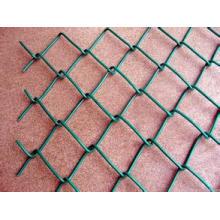 Гальванизированная Загородка звена цепи (ячеистая сеть диаманта) , цепи PVC покрытая Загородка звена