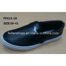 Lady Cheap Slip-on Casual Shoes Injection Sport Shoes (FF413-10)