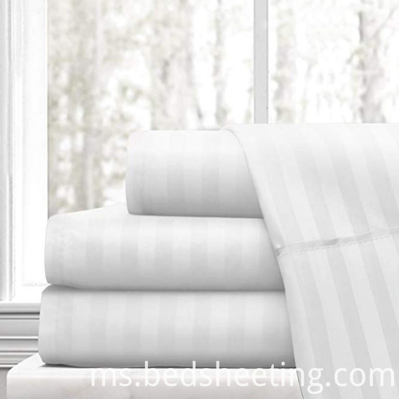 Hotel Cotton Sateen Stripe Sheet