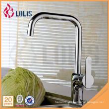 Misturador de faucetes de cozinha de cume de água comercial Chrome