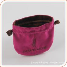 Custom printed velvet pouch wholesale cotton fabric drawstring dust bag