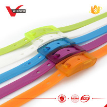 Cinto de silicone colorido colorido de moda unisex