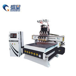 4-Spindle CNC router 1325 woodworking machine