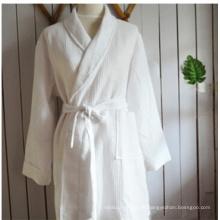 Roupão de banho de veludo de algodão para pijama hotel camisola (dpf10146)