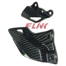 Pièces de fibre de carbone de moto Protecteurs de talon pour Honda Cbr 1000rr 08-11