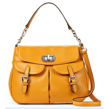 Designer Front Double-Pockets Fashion Lady Handbag (LY0096)