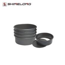 V372 Aleación de aluminio anodizado Redondo Loose Base Cake Pan