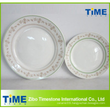 Ceramic Dinner Plate with Printing