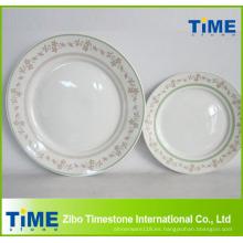 Plato de cena de cerámica con impresión