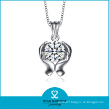 AAA Zircon Rhodium Plated Wholesale Necklace (N-0209)