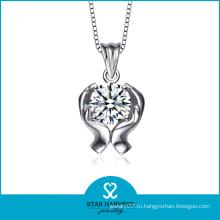 AAA циркон Родием ожерелье кулон (Н-0209)