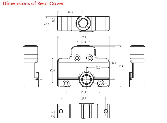 Dimensions of Rear Cover