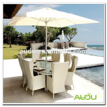 Guarda-chuva de praia Audu, guarda-chuva lateral da praia branca dentro da mesa