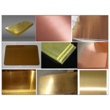 Plaque en laiton C21000, C22000, C22600, C23000, C24000, C26000, C26130