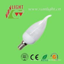 Vela forma Tailer CFL 9W (VLC-CDT-9W), lâmpada de poupança de energia