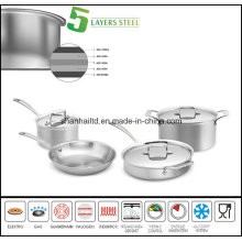 5 Layer Body Composite Material Cookware Set