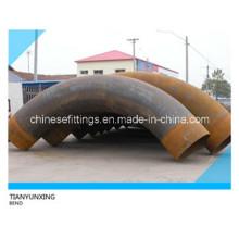 10d Longitudinal Welded Pipe Steel Bend Sans peinture avec tangente