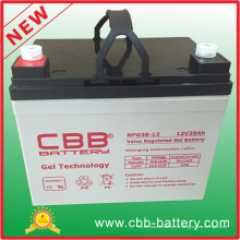 Batería marina de calidad superior de la batería de la batería del gel de 12V 38ah