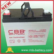 Batterie de gel anti-vol à vis complètement étanche 12V38ah