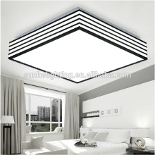 CE Modern led acrylic ceiling lamp three section/dimmable square ceiling light for parlor lighting