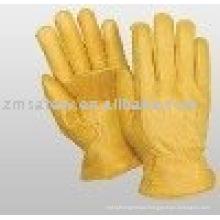 Golden Color Cowhide Driver Gloves ZM131-L