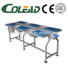 SUS304 working table/six station selecting conveyor/working desktop conveyor/vegetable processing line