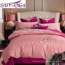 Amostras disponíveis Bordado Egípcio Algodão Bed Linen Bedding Set