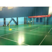 Suelo de alta calidad de los deportes del PVC del certificado de Bwf usado al grueso de la corte 4.5mm / 5m m de bádminton
