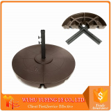 Market Round umbrella stand can be filed with water or sand